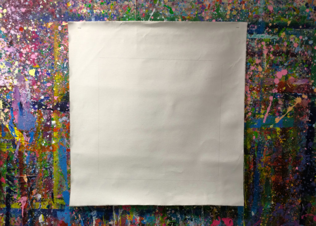 Photo of a blank canvas by Ruth Hartnup